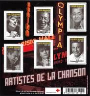 FRANCE ARTISTES DE LA CHANSON - BLOC N°F4605** - Neufs