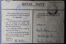 Palestine: 1943 Royal Navy Honour  Cover Haifa, Field Post Office 149, P/mk Nr 149, Navy Censor - Palestine