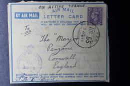 Palestine: 1944 Letter Card, 25 Indian Infantry Brigade, P/Mk Indian FPO 55 - Palestina