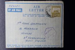 Palestine: 1945 Letter Card, Palestine Police, Citadel Billet, Backstamped BAPO 4 Cairo - Palestine