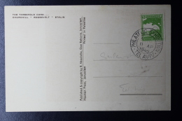 Palestine: 1945 Post Card, Philatelic Exhibition  Tel Aviv 11th April 1945 Special Cancel - Palestine