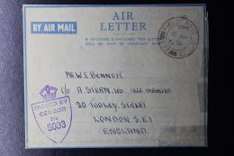 Palestine: 1945 Air Letter Jerusalem, 1st Infantry Division  Field Post Office , P/Mk No 233 - Palestine