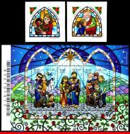 Ref. BR-3312-14 BRAZIL 2015 CHRISTMAS, RELIGION, SET AND, SOUVENIR SHEET MNH 5V Sc# 3312-14 - Weihnachten