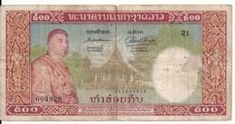 LAOS 500 KIP 1957 VG+ P 7 - Laos