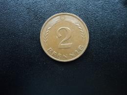 RÉPUBLIQUE FÉDÉRALE ALLEMANDE : 2 PFENNIG   1959 G    KM 106     SUP - [ 7] 1949-… : FRG - Fed. Rep. Germany