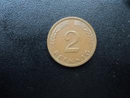 RÉPUBLIQUE FÉDÉRALE ALLEMANDE : 2 PFENNIG   1959 J    KM 106     SUP 55 - [ 7] 1949-… : FRG - Fed. Rep. Germany