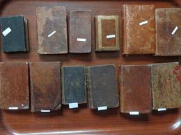 Lot 12 Livres Pieux-missel-les Principes De La Perfection Chretienne-l'ecolier Chretien 1828-mort D'abel-meditations-etc - Religion & Esotericism