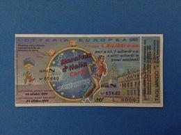 1993 BIGLIETTO LOTTERIA EUROPEA E NAZIONALE MARATONA D'ITALIA CARPI - Loterijbiljetten