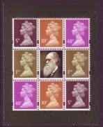GB 2009 Machin Stamps Block From Charles Darwin Booklet Pane SG Y1762L UM/ MNH - 1952-.... (Elizabeth II)