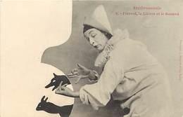 -ref X564- Silhouettes - Silhouette Ombromanie - Pierrot - Le Lievre Et Le Renard -edition A Bergeret  - - Silhouette - Scissor-type