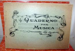 QUADERNO PER MUSICA UV - Vieux Papiers