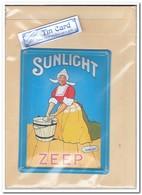 Sunlight Zeep, Tin Card, Blechkarte, Tin Kaart, Carte D'étain - Reclame