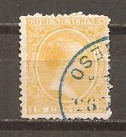España/Spain-(usado) - Edifil  229 - Yvert  Sello De Servicio 9 (o) - 1889-1931 Reino: Alfonso XIII