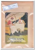 Verkades Biskwie, Tin Card, Blechkarte, Tin Kaart, Carte D'étain - Reclame