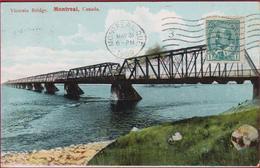 Canada Montreal Victoria Bridge 1909 OLD POSTCARD - Montreal