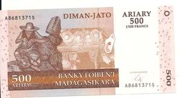 MADAGASCAR 500 FRANCS 2004(2016) UNC P 88 NEW - Madagascar