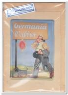 Germania Weissbier, Tin Card, Blechkarte, Tin Kaart, Carte D'étain - Reclame