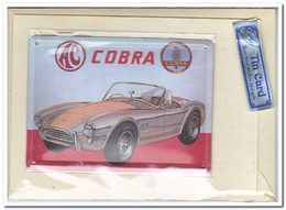 Cobra, Tin Card, Blechkarte, Tin Kaart, Carte D'étain - Reclame