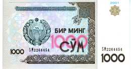 OUZBÉKISTAN - Central Bank Of Uzbekistan Republic - 1000 Sum (2001) - Série SM 2264454 - P.82 - UNC - Ouzbékistan