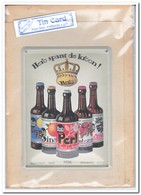 Hero Spant De Kroon, Tin Card, Blechkarte, Tin Kaart, Carte D'étain - Reclame