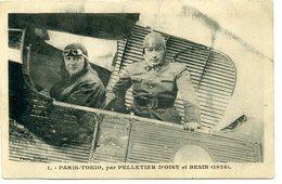 PARIS TOKIO, Par Pelletier D'Oisy Et Besin (1924 - Flieger