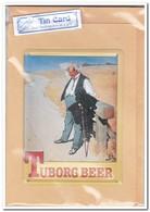Tuborg Beer, Tin Card, Blechkarte, Tin Kaart, Carte D'étain - Reclame