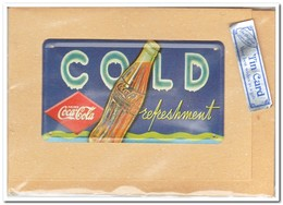 Coca Cola, Tin Card, Blechkarte, Tin Kaart, Carte D'étain - Reclame