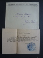 CAMBODGE PHNOM-PENH, CACHET DU CONSULAT DU JAPON , Carte D'inviation Rénunion Athlétique Auspices De L'armée Japonaise - Autographes