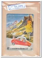 Messerschmitt, Tin Card, Blechkarte, Tin Kaart, Carte D'étain - Reclame