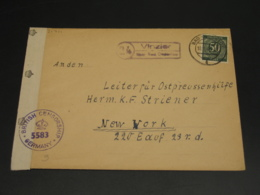 Germany 1947 Bad Oldesloe Censored Cover To USA *21701 - Unclassified