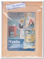 Miele Waschmaschinen, Tin Card, Blechkarte, Tin Kaart, Carte D'étain - Reclame