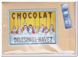 Chocolat Delespaul-Havez, Tin Card, Blechkarte, Tin Kaart, Carte D'étain - Reclame