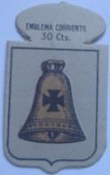 Emblema De Auxilio Social De 30 Cts De Campanet, Mallorca. Serie B. Nº 11. Guerra Civil Española. 1936-1939 - 1939-45