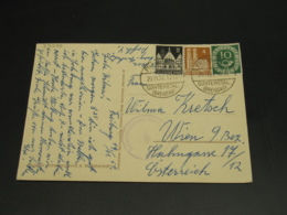 Germany 1951 Censored Postcard To Austria *22056 - Unclassified