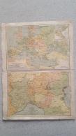 CARTE  EUROPE DE NAPOLEON  ET BELGIQUE ET  CONTREES VOISINES  RECTO VERSO 42 X 31 CM - Cartes Géographiques