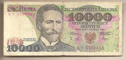 Polonia - Banconota Circolata Da 10.000 Zloty P-151b - 1988 - Polonia