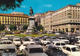 NAPOLI - Piazza Municipio - Auto - Insegna Pubblicitaria Alemagna / Martini / Birra Peroni - 1971 - Napoli (Naples)