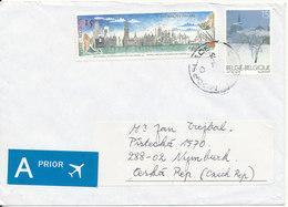 Belgium Cover Sent To Czech. Republic Moorslede 10-12-1999 Topic Stamps - Belgium