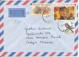 Belgium Air Mail Cover Sent To Czech. Republic 25-5-1994 Topic Stamps - Belgium