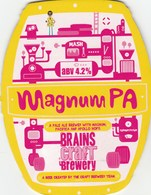 BRAINS CRAFT BREWERY (CARDIFF, WALES) - MAGNUM PA - PUMP CLIP FRONT - Signs