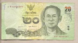 Tailandia - Banconota Circolata Da 20 Baht - P-118a.3 - 2013 - Tailandia