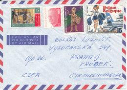 Belgium Air Mail Cover Sent To Czech. Republic 17-11-1993 Topic Stamps - Belgium