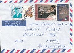 Belgium Air Mail Cover Sent To Czech. Republic 3-4-1994 Topic Stamps - Belgium