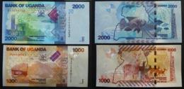 Uganda 1000 2000 Shillings 2010 2015 UNC FdS - Uganda