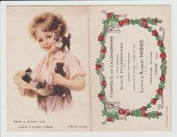 CALENDRIER 1937 - PUBLICITE FABRIQUE DE CALENDRIERS LOUIS ET ALBERT NISSE - CROIX - NORD - Calendriers