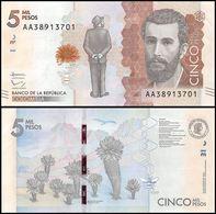Colombia P459, 5000 Peso, Poet José Silva, Puma Plant / Silva Poem, Bumblebee - Colombia