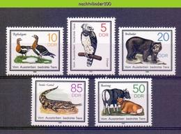 Mwe2640 FAUNA ZOOGDIEREN VOGELS HARPIJ ENDANGERED GEESE BIRDS BEAR GAVIAAL COWS MAMMALS WILDLIFE GERMANY DDR 1985 PF/MNH - Postzegels