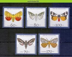Mwe2643 FAUNA VLINDER BUTTERFLIES MOTHS NACHTFALTER SCHMETTERLINGE MARIPOSAS PAPILLONS DEUTSCHE BUNDESPOST 1992 PF/MNH # - Schmetterlinge