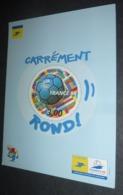 Carte Postale (Coupe Du Monde 1998 - Football) Carrément Rond ! (timbre Ballon) La Poste Délégation Est - Soccer