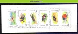Mwe2645 FAUNA INSECTEN TOR KEVER LIBEL HOMMEL *BOOKLET* INSECTS BUMBLE BEE BUG BEETLE KÄFER BELGIQUE BELGIË 1996 PF/MNH - Insekten